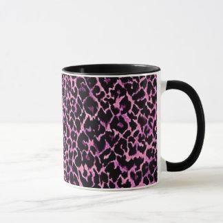 ピンクのチータパターン マグカップ