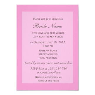 ピンクのツツジによってはブライダルシャワーの招待が開花します カード