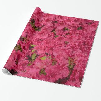 ピンクのツツジの包装紙 ラッピングペーパー