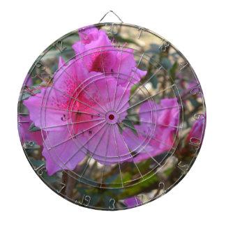 ピンクのツツジの花 ダーツボード