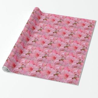 ピンクのツツジの花 ラッピングペーパー