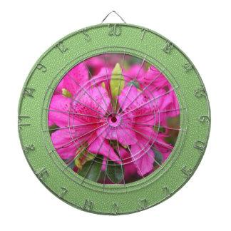 ピンクのツツジの花、杜鹃花。 ダーツボード