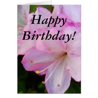 ピンクのツツジの誕生日 カード