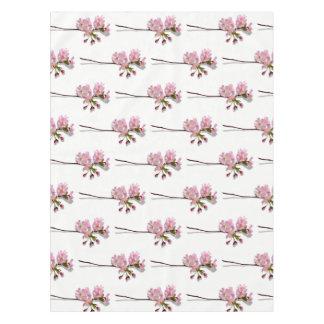 ピンクのツツジは花の花白い分岐します テーブルクロス