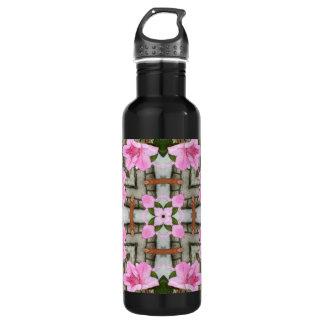 ピンクのツツジ1E kaleidoscope10 ウォーターボトル
