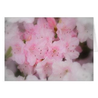 ピンクのツツジ カード