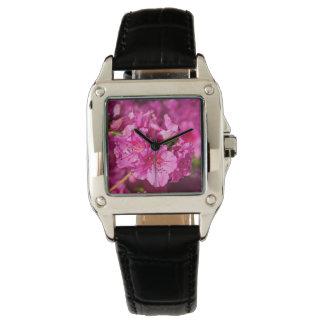 ピンクのツツジ 腕時計