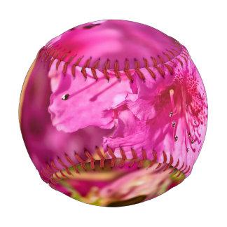 ピンクのツツジ 野球ボール