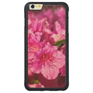 ピンクのツツジ CarvedメープルiPhone 6 PLUSバンパーケース