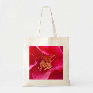 ピンクのツバキのバッグ トートバッグ
