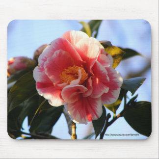 ピンクのツバキの花のmousepad マウスパッド