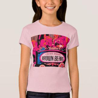 ピンクのテディー・ベアのイメージの女の子のTシャツのパート1 Tシャツ