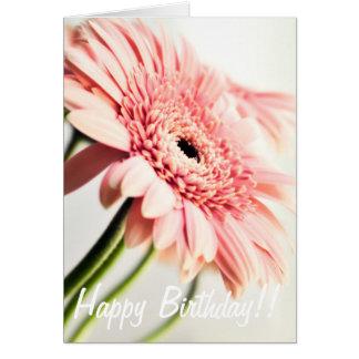 ピンクのデイジーのバースデー・カード グリーティングカード