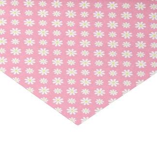 ピンクのデイジーの花柄パターン 薄葉紙
