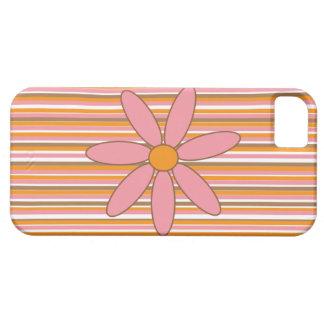 ピンクのデイジーの電話箱 iPhone SE/5/5s ケース