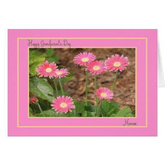 ピンクのデイジーのMamawのための祖父母の日カード カード