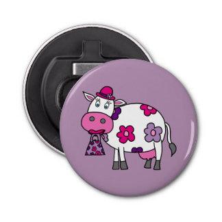 ピンクのデイジー牛 栓抜き
