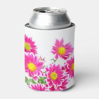 ピンクのデイジー/星状体の花束 + あなたのアイディア 缶クーラー