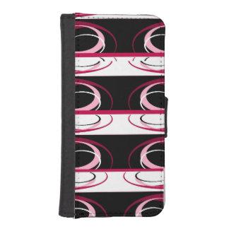 ピンクのデザインの電話札入れカバー iPhoneSE/5/5sウォレットケース