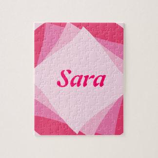 ピンクのデザイン ジグソーパズル