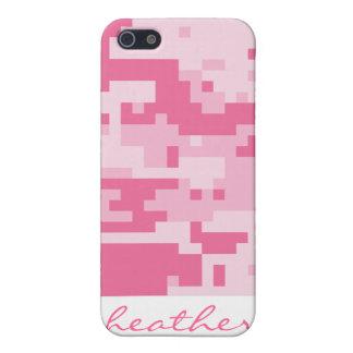 ピンクのデジタルACU Camoflageパターン iPhone 5 ケース