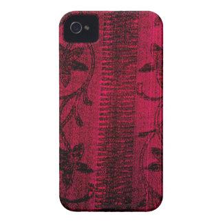 ピンクのデニムの花のiPhone 4/4sの場合 Case-Mate iPhone 4 ケース
