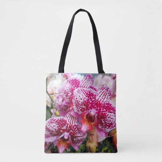ピンクのデンドロビウムの蘭 トートバッグ