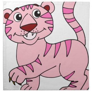 ピンクのトラの野生動物けれどもすごいかわいい ナプキンクロス