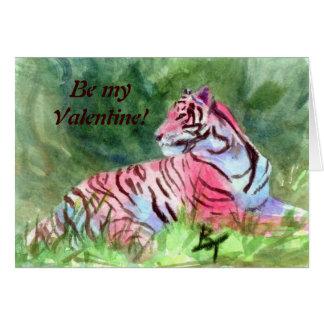 ピンクのトラのaceoは、myValentineです! カード