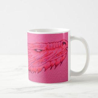 ピンクのドラゴンのマグ コーヒーマグカップ