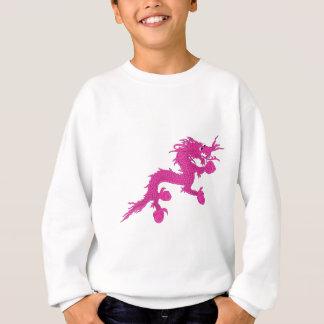 ピンクのドラゴン スウェットシャツ