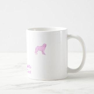 ピンクのニューファウンドランド コーヒーマグカップ