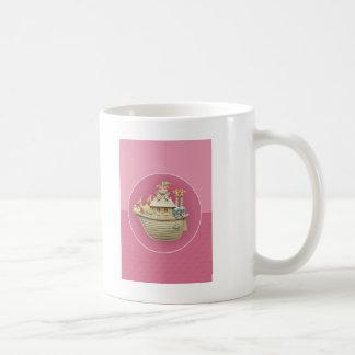ピンクのノアの箱舟 コーヒーマグカップ