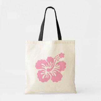 ピンクのハイビスカスのアロハ花Q トートバッグ