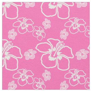 ピンクのハイビスカスのハワイアン ファブリック