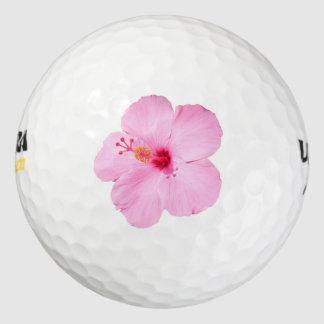 ピンクのハイビスカスの熱帯花 ゴルフボール