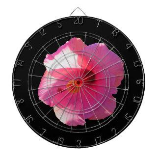 ピンクのハイビスカスの花のイメージ ダーツボード