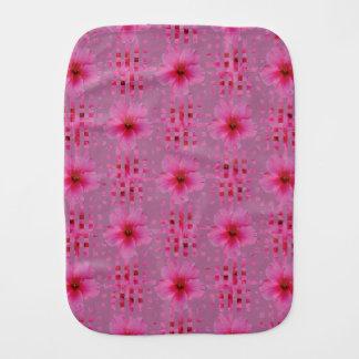 ピンクのハイビスカスの花のベビー用バーブクロス バープクロス