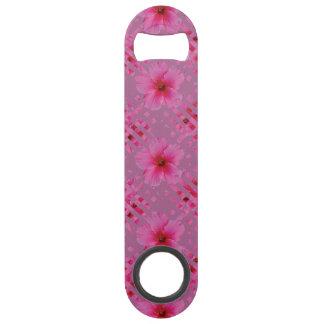 ピンクのハイビスカスの花の速度の栓抜き スピードボトルオープナー