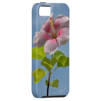 ピンクのハイビスカスの花のiPhone 5の場合 iPhone SE/5/5s ケース