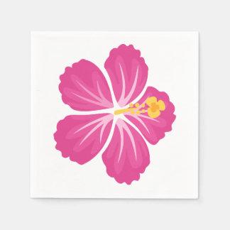 ピンクのハイビスカスの花 スタンダードカクテルナプキン