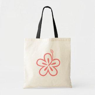 ピンクのハイビスカスの花 トートバッグ