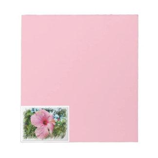 ピンクのハイビスカス ノートパッド