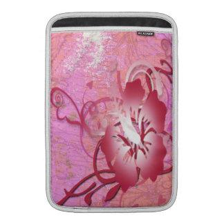 ピンクのハイビスカス MacBook スリーブ