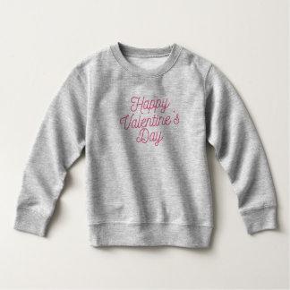 ピンクのハッピーバレンタインデー のスエットシャツ スウェットシャツ