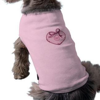 ピンクのハートおよびリボン ペット服