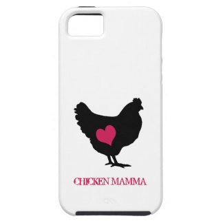ピンクのハートのかわいい鶏 iPhone SE/5/5s ケース