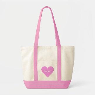 ピンクのハートのカスタムのバッグ トートバッグ