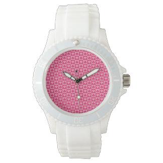 ピンクのハートのデザインのピンク 腕時計