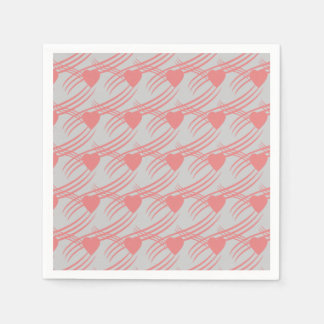 ピンクのハートのナプキン スタンダードカクテルナプキン